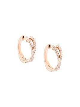 Marchesa 18kt rose gold diamond cross-over small hoops