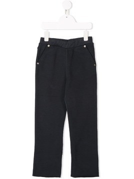Douuod Kids studded casual trousers - Blue