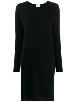Allude long-sleeved cashmere dress - Black