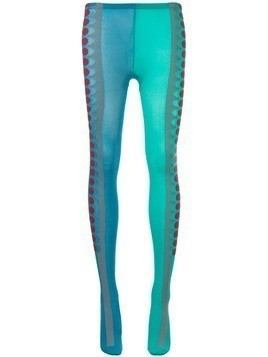 Kolor dotted side print tights - Multicolour