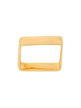 Niza Huang square ring - Metallic