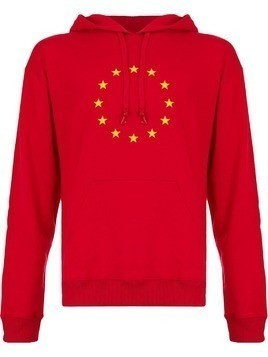 Both star circle hoodie - Red