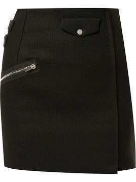 Yang Li straight mini skirt - Black