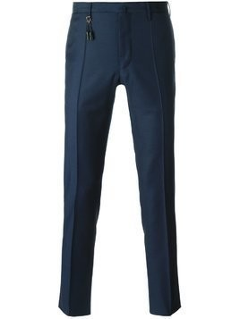 Incotex straight leg tassel detail trousers - Blue