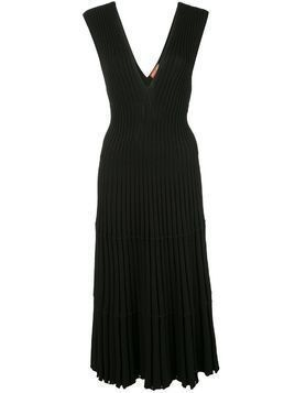 Altuzarra ribbed knit V-neck dress - Black