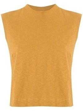 Osklen Rustic ribbed cropped top - Yellow