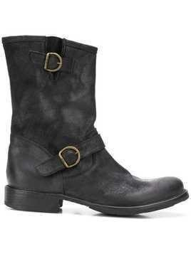 Fiorentini + Baker buckled boots - Black