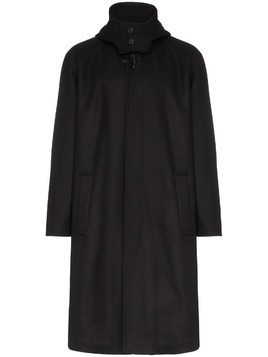 Lou Dalton X gloverall hooded cashmere and wool duffle coat - Blue