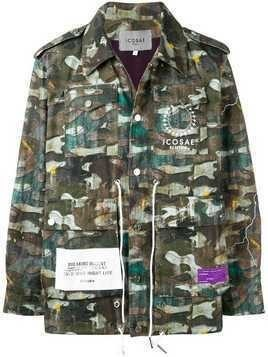 Icosae casual camo jacket - Green