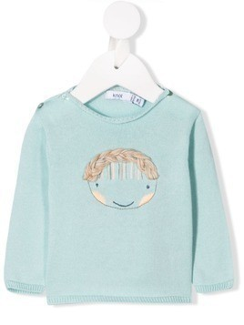 Knot Doll embroidered jumper - Blue