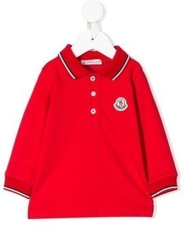 Moncler Kids long sleeve polo top - Red