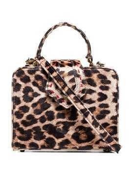 Mehry Mu beige and brown fey mini leopard print box bag