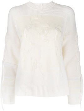 Iceberg embroidered jumper - White