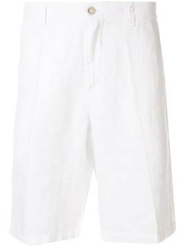 120% Lino crease effect shorts - White