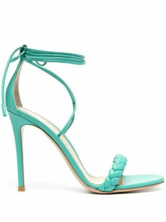 Gianvito Rossi Leomi ankle-tie sandals - Green