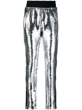 Chiara Ferragni sequinned skinny trousers - Metallic