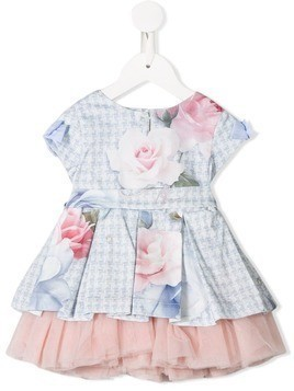 Lapin House floral print tulle dress - Pink