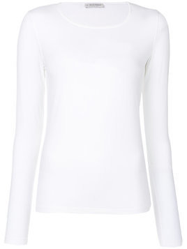 Le Tricot Perugia longsleeved T-shirt - White