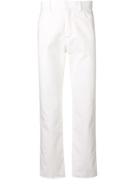 Haider Ackermann raw hem jeans - White