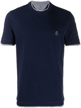 Brunello Cucinelli layered effect T-shirt - Blue
