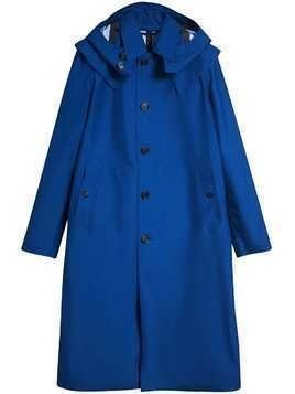 Burberry Detachable Hood Showerproof Car Coat - Blue