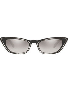 Miu Miu Eyewear crystal cat eye sunglasses - Black