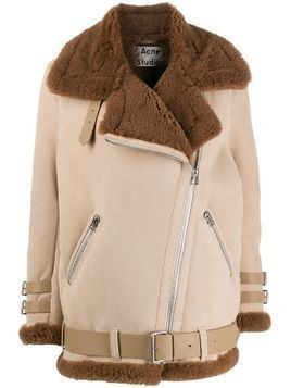 Acne Studios Velocite shearling jacket - NEUTRALS