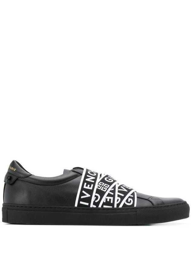 Givenchy logo strap sneakers - 001 BLACK