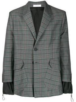 Delada layered plaid blazer - Grey