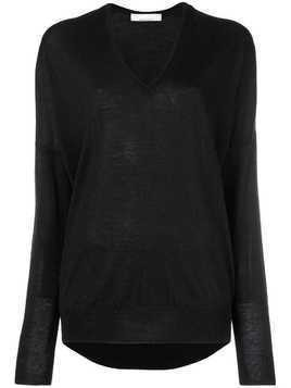 Jean Paul Knott oversized V-neck sweater - Black