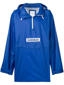 Napa By Martine Rose logo rain jacket - Blue