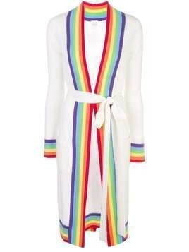 Madeleine Thompson rainbow trim cardigan - White