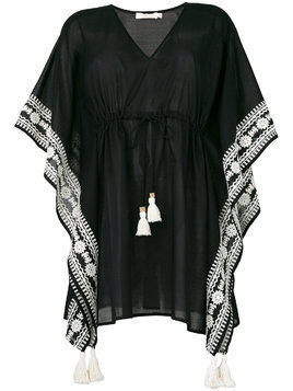 Tory Burch embroidered kaftan - Black
