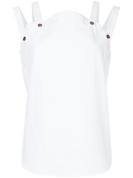 Monographie fragment sleeveless top - White