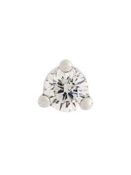 Delfina Delettrez 18kt gold Dots Solitaire diamond and pearl earring - White