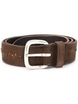 Orciani beaded detail belt - Brown