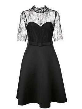 Badgley Mischka lace cocktail dress - Black