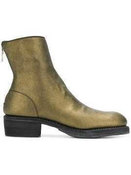 Guidi metallic ankle boots - Gold