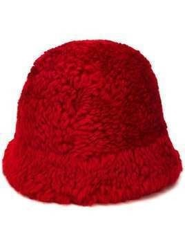 Holland & Holland shearling hat - Red