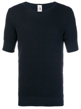 S.N.S. Herning Meta textured T-shirt - Blue