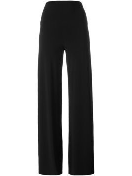 Norma Kamali wide leg trousers - Black
