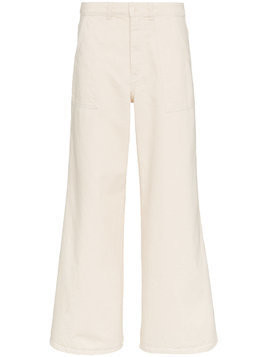 Ganni bluebell wide leg trousers - Nude & Neutrals