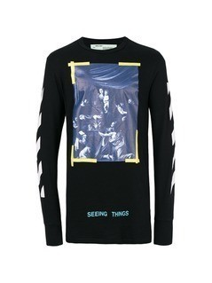 Off-White Seeing Things long sleeve T-shirt - Black