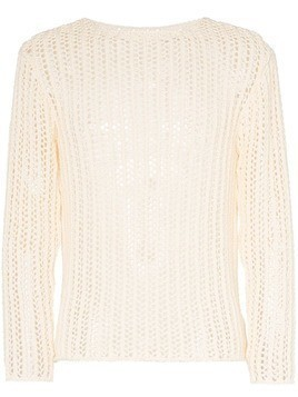 Jacquemus relaxed fit knitted net jumper - Neutrals
