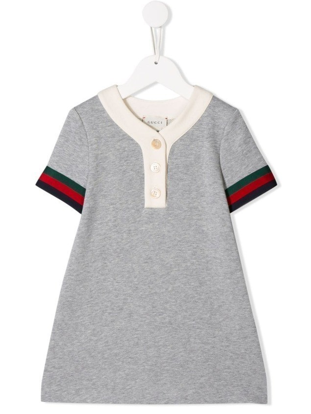 Gucci Kids polo-shirt dress - GREY