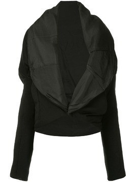 Masnada oversized lapel jacket - Black