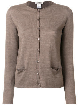 Le Tricot Perugia long sleeved cardigan - Brown