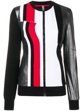No Ka' Oi colour block sport jacket - Black