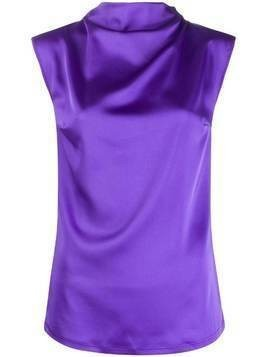 Styland high neck top - Purple