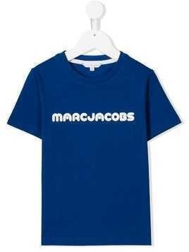 Little Marc Jacobs logo print T-shirt - Blue